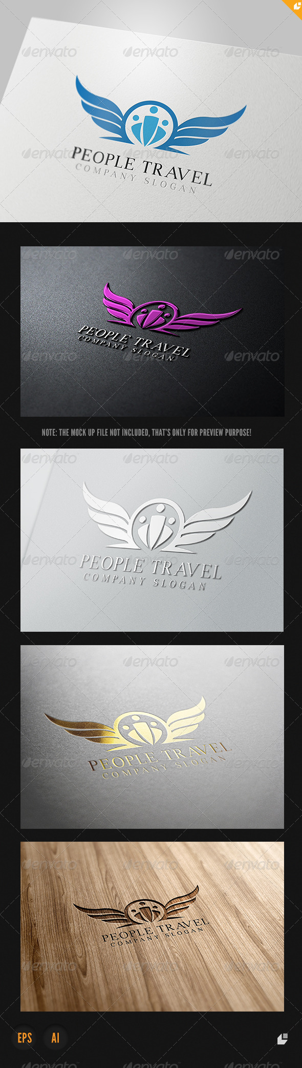 GraphicRiver People Travel Logo 4053131