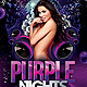 Purple Nights Flyer - GraphicRiver Item for Sale