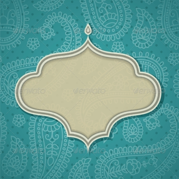 GraphicRiver Frame in the Indian Style 4053302