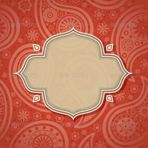 GraphicRiver Frame in the Indian style 4053310