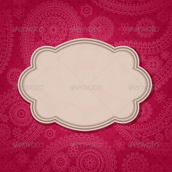 GraphicRiver Frame in the Indian Style 4053383