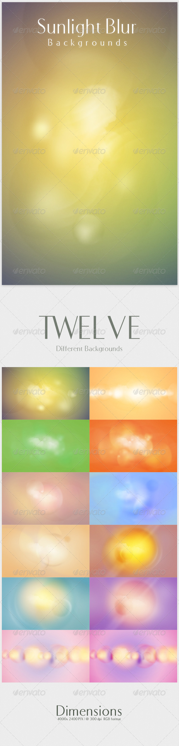GraphicRiver Sunlight Blur Backgrounds 4054156