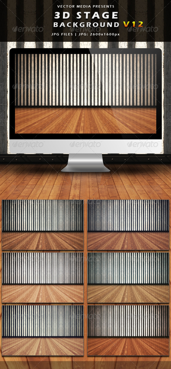 GraphicRiver 3D Stage Background Vol.12 4054418
