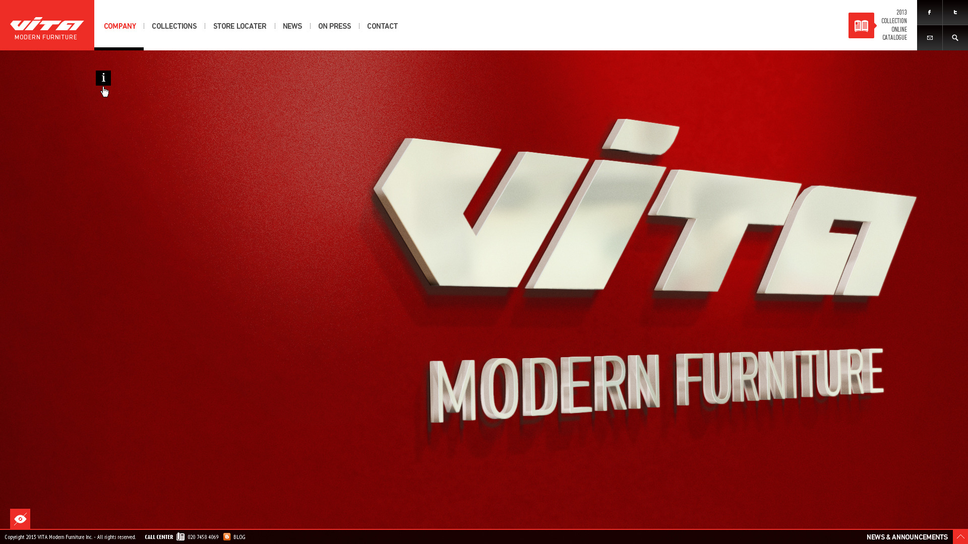 Vita - Modern Furniture PSD Template - - about : content box is closed