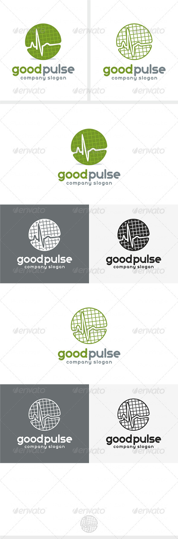 Good Pulse Logo - Vector Abstract