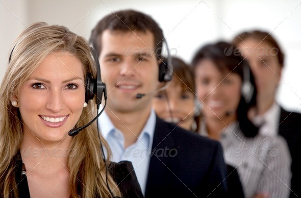 Business customer support team - Stock Photo - Images