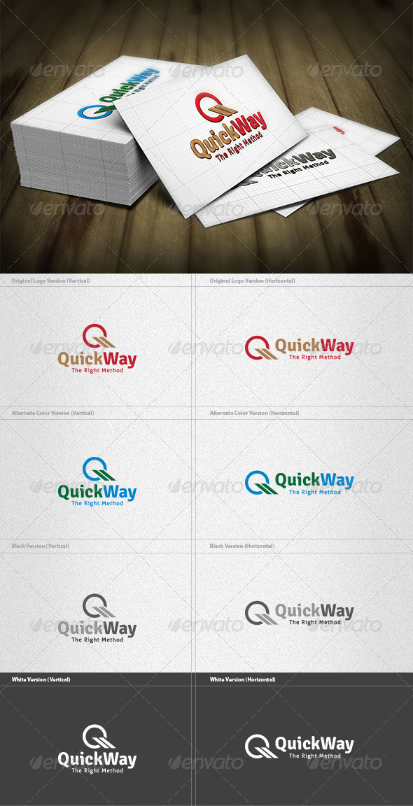 GraphicRiver Quick Way Logo 3733481
