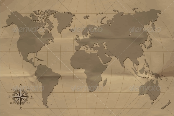 GraphicRiver Old map 4055570