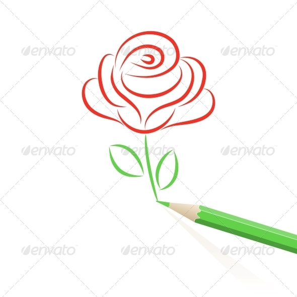 GraphicRiver Hand drawn rose 4055617