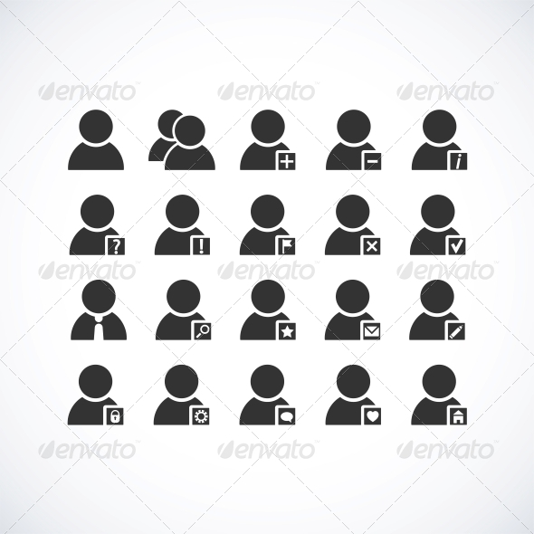 GraphicRiver User icons set 4055685