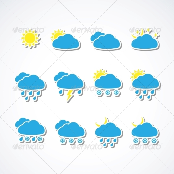 GraphicRiver Weather icons 4055697