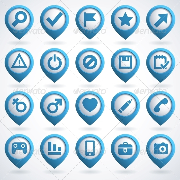 GraphicRiver Web Icon Set 4055714
