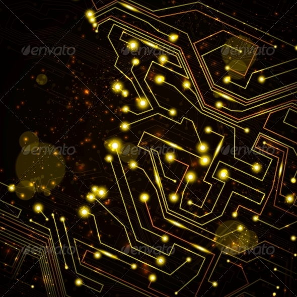 GraphicRiver circuit board vector background 4055905