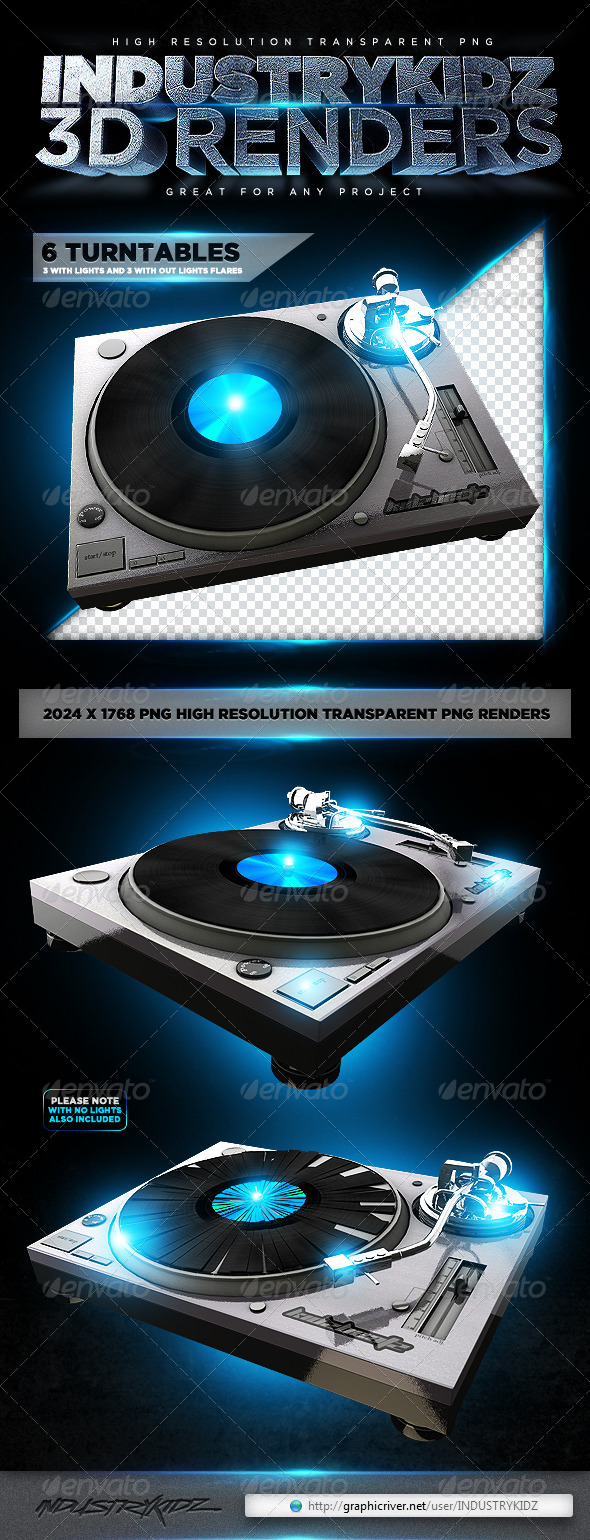 Turntable 3D Renders - Technology 3D Renders