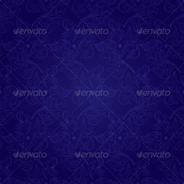 GraphicRiver Floral seamless pattern on violet background 4057185