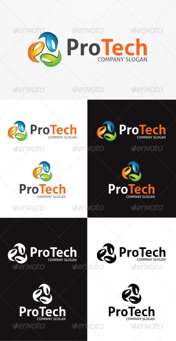 GraphicRiver ProTech Logo Template 4057539