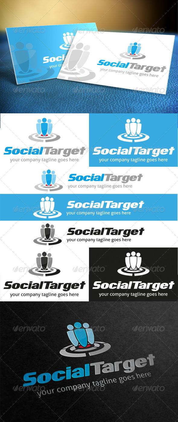 GraphicRiver Social Target Logo 3907493