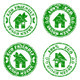 Eco Friendly House  Stamps - GraphicRiver Item for Sale