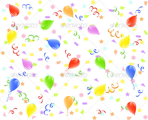Birthday Background  - Birthdays Seasons/Holidays