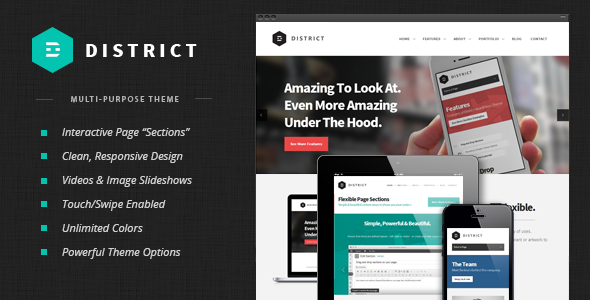 ThemeForest District Responsive Multi-Purpose Theme 4058457