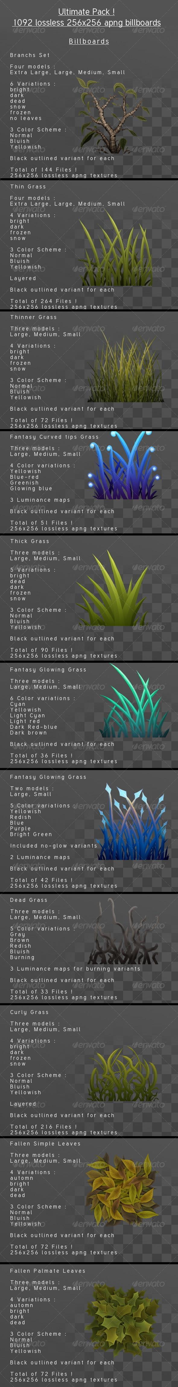 3DOcean Grass Billboard Ultimate pack 4058459