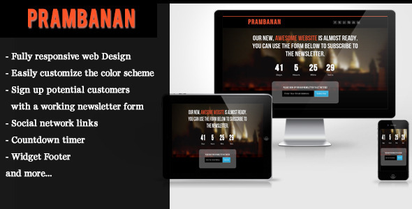 Prambanan - Under Construction HTML Template - Under Construction Specialty Pages