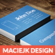 Blueprint Business Card  - GraphicRiver Item for Sale