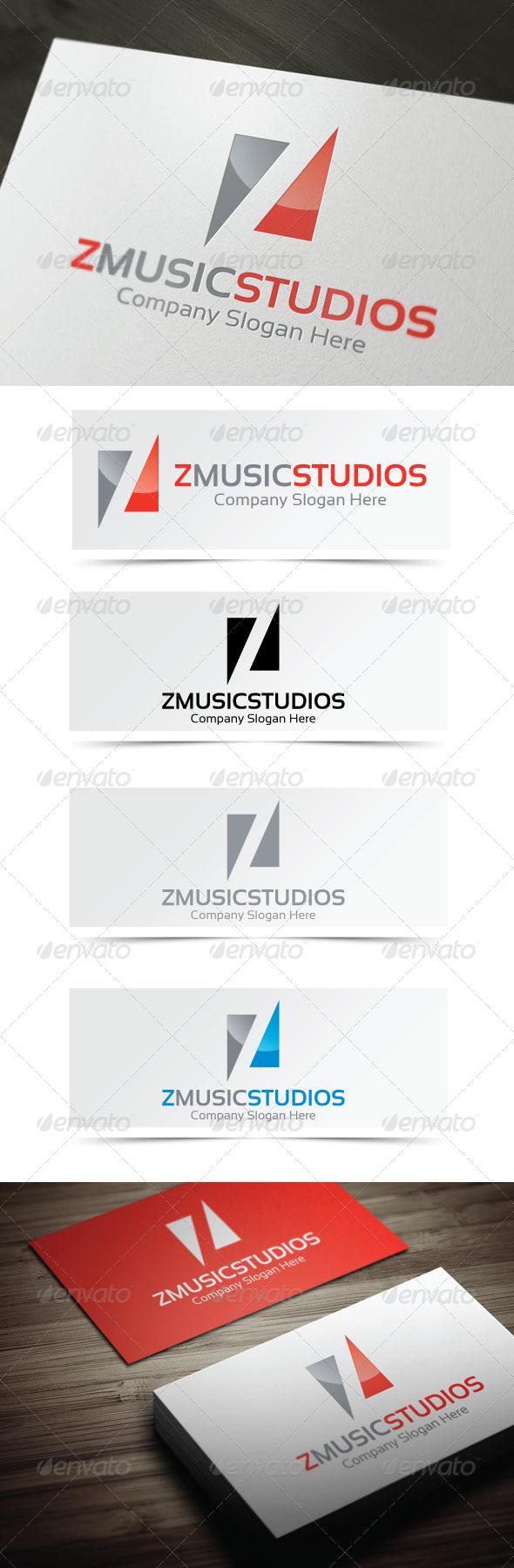 GraphicRiver Z Music Studios Logo 4060613