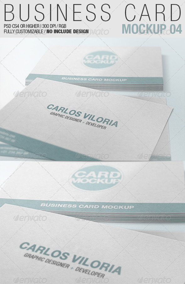 Business Card Mockup 04 - Business Cards Print