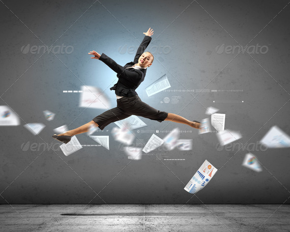 image of pretty businesswoman - Stock Photo - Images