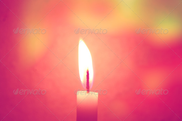 Candle  - Stock Photo - Images