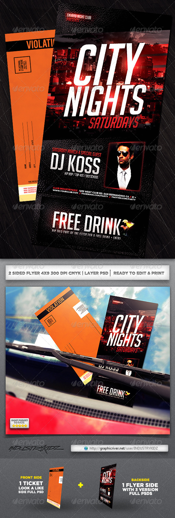 Parking Ticket Flyer  - Clubs &amp; Parties Events