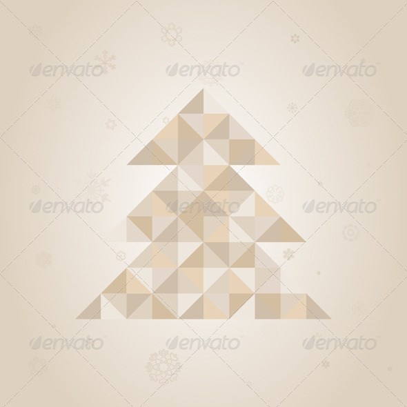 GraphicRiver Christmas tree a triangle 4062291