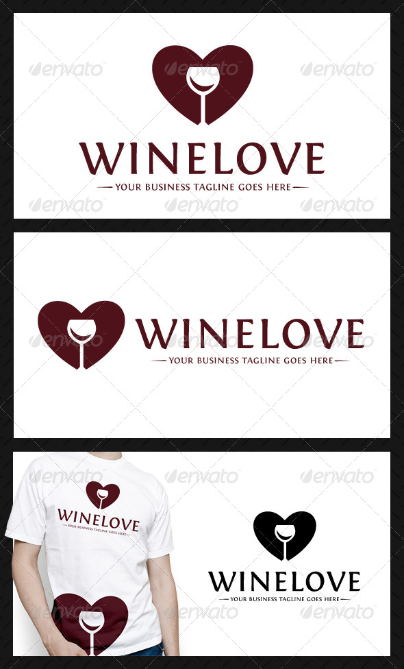 Wine Love Logo Template - Food Logo Templates