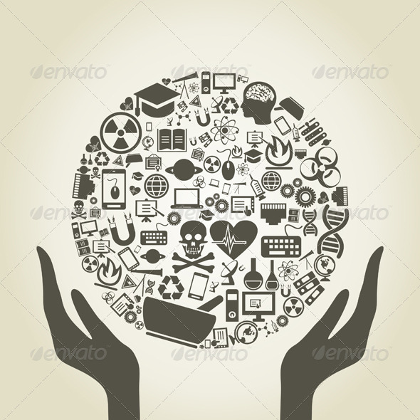 GraphicRiver Hand a science3 4062340