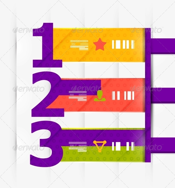 GraphicRiver Numbered Banners Infographics 4063289