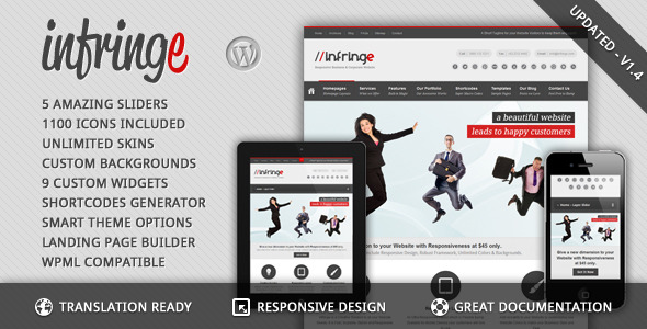 Infringe - Responsive Business & Corporate WP