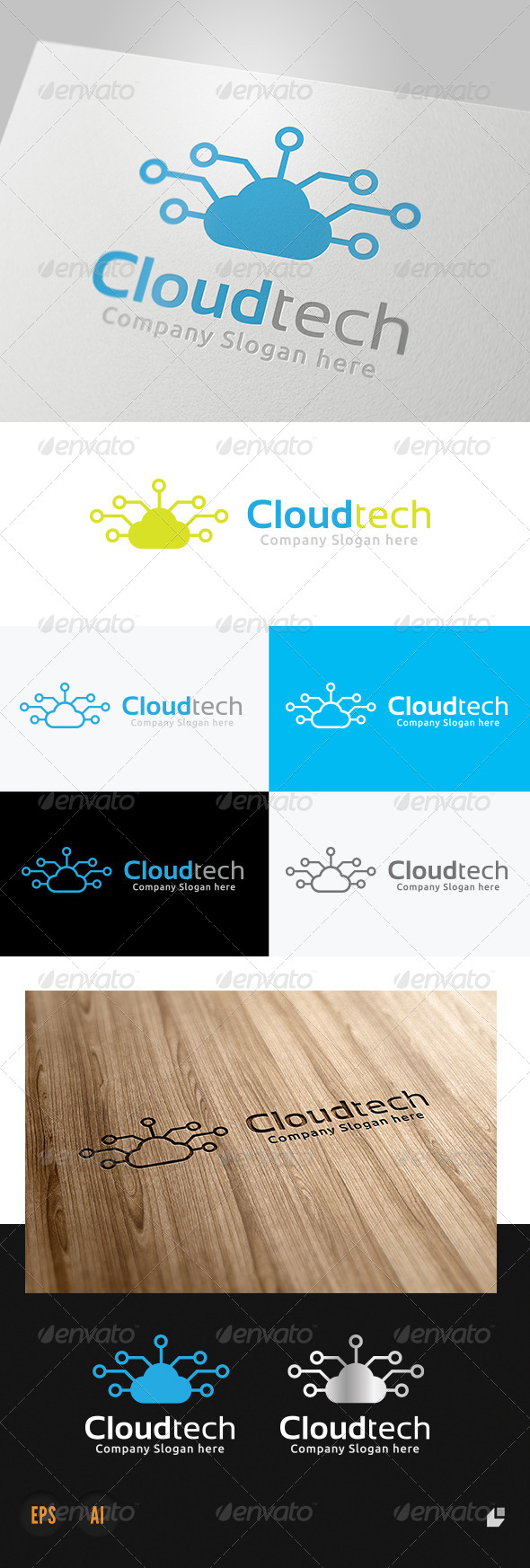GraphicRiver Cloud Technology Logo 4064648