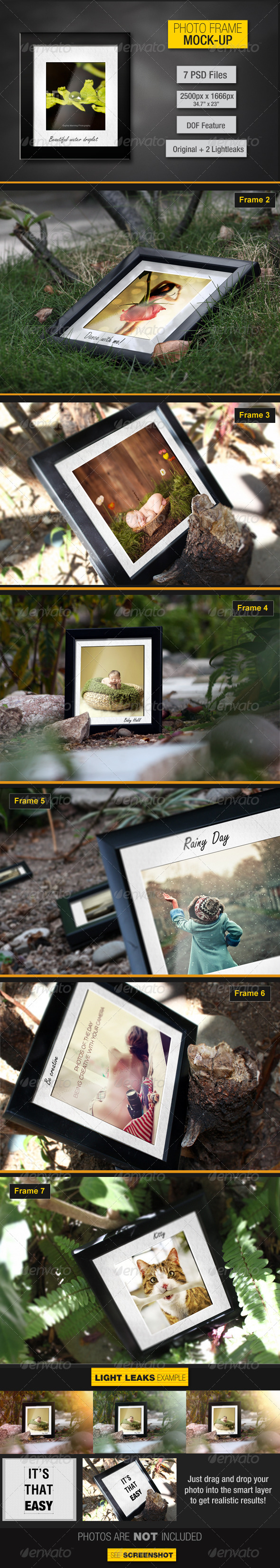 Photo Frames Mockup V1 - Photo Templates Graphics