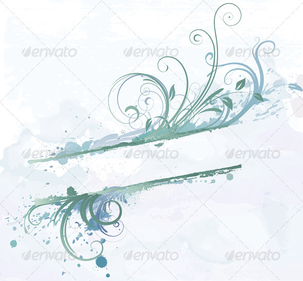 GraphicRiver Floral Decorative Banner 4064883