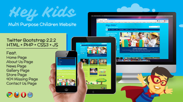 ThemeForest Hey Kids Responsive Multipurpose Children Web 4044316