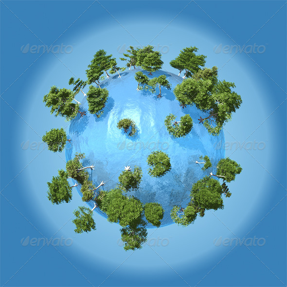 Planet of Water - Miscellaneous 3D Renders