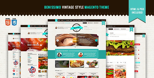 benissimo vintage style magento theme by wpway themeforest