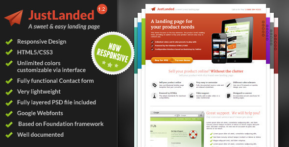 JustLanded - Landing Page - Landing Pages Marketing