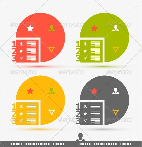 GraphicRiver Numbered Banner Design Template 4066233