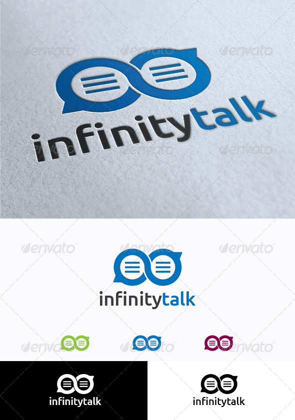 GraphicRiver Infinity Talk Logo Template 4066242
