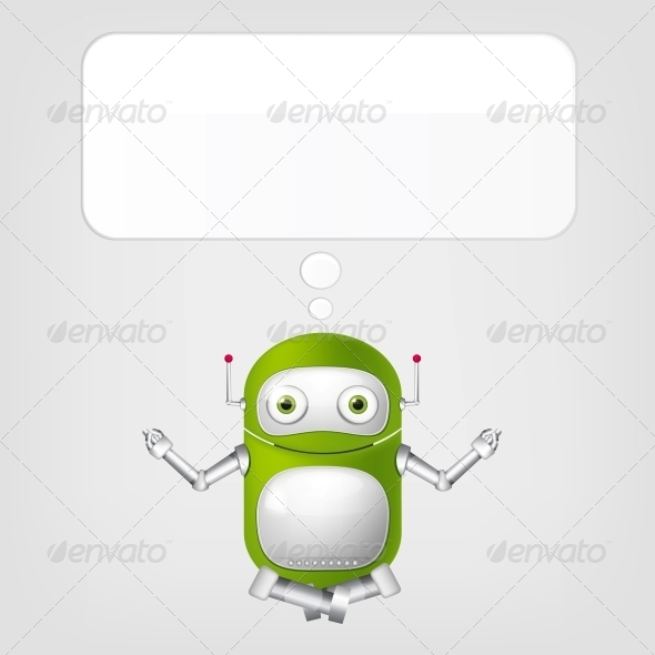 GraphicRiver Cute Robot 4066313