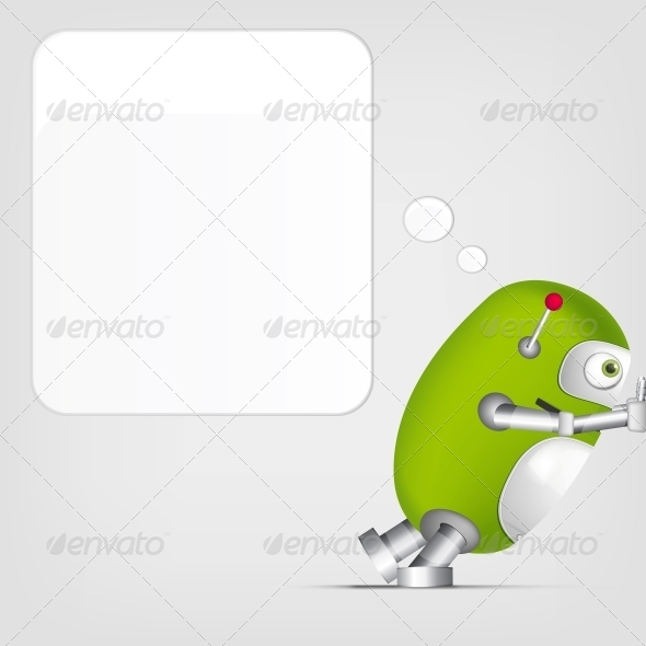 GraphicRiver Cute Robot 4066324