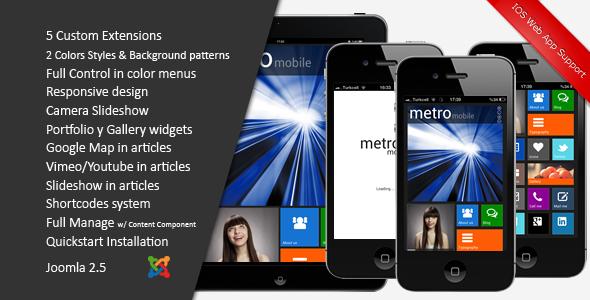 ThemeForest Metro Mobile Premium Joomla Mobile Template 4062125