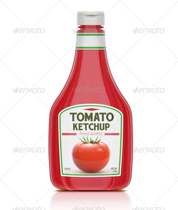 GraphicRiver Ketchup Bottle 4066547